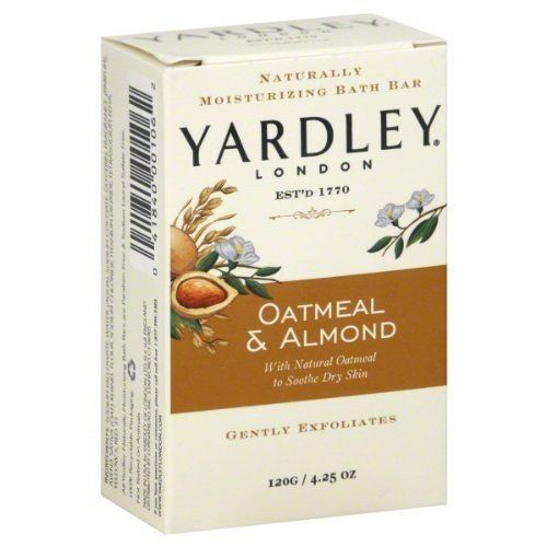 Yardley Oatmeal and Almond Bar Soap, 4.25 Oz. 20 Bars