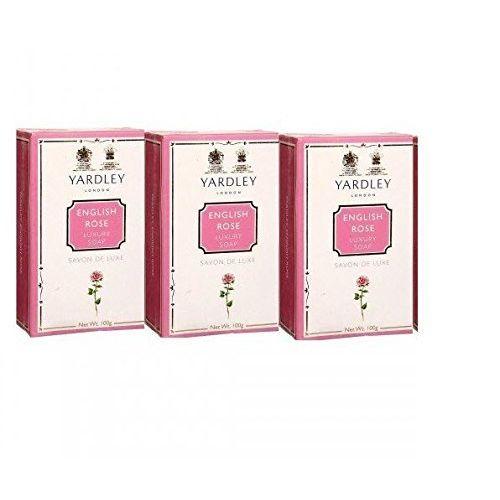 Yardley English Rose Luxury Soap, 100g (Pack of 3)