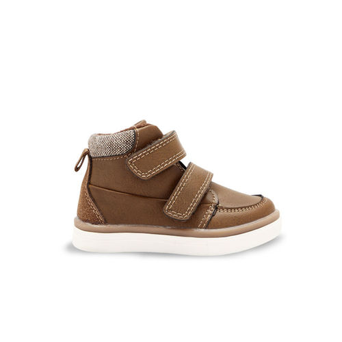 next Boys Brown Flat Mid Top Boots