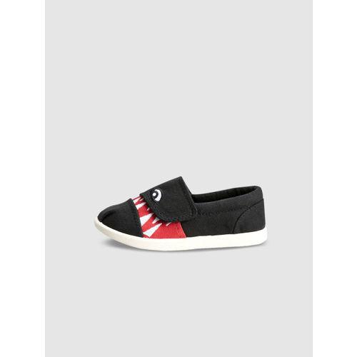 next Boys Black Slip-On Sneakers
