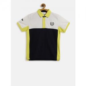 ef691d292f8 Gini and Jony Boys Navy Blue & White Colourblocked Polo Collar T-shirt