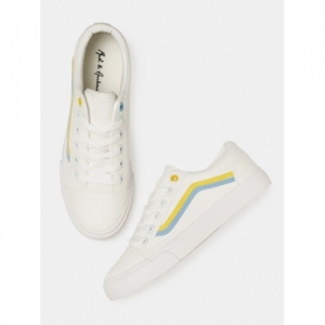 Mast & Harbour White Canvas Regular Sneakers