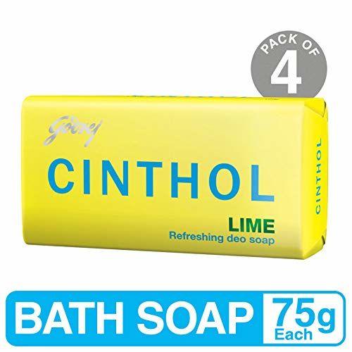Godrej Cinthol Lime Bath Soap, 75g (Pack of 4)