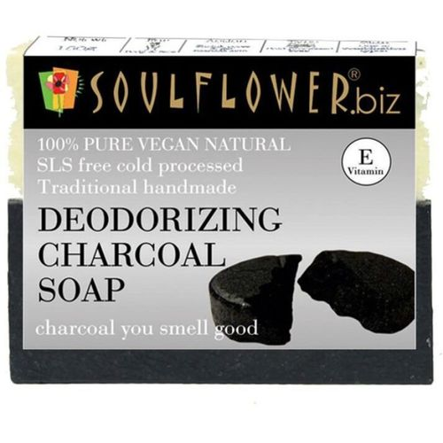 Soulflower Deodorizing Charcoal Soap(150 g)