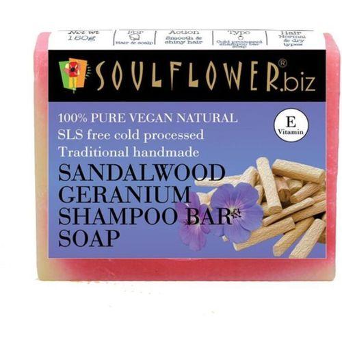 Soulflower Sandalwood Geranium Shampoo Bar Soap(150 g)