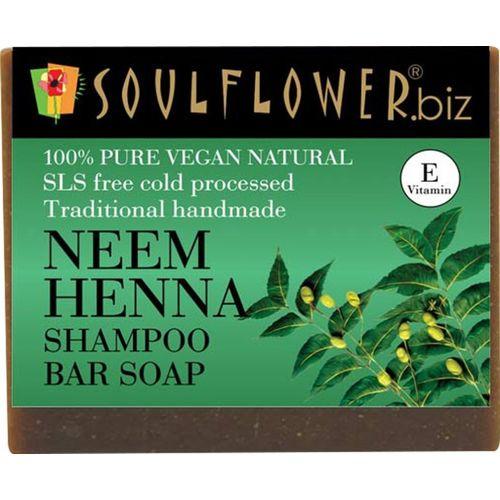 Soulflower Neem Henna Shampoo Bar Soap(150 g)