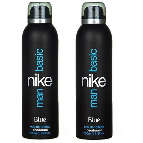 Nike Basic Blue EDT Deodorant Spray - For Men(400 ml, Pack of 2)