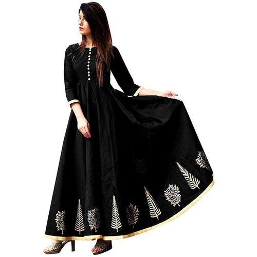 Ethnic star Anarkali Gown(Black)