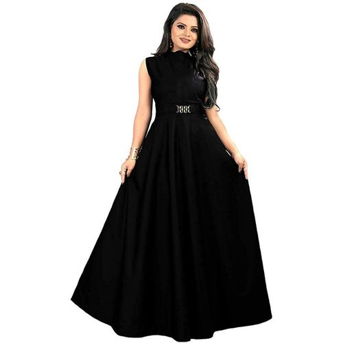 Ethnic star Anarkali Gown(Black)