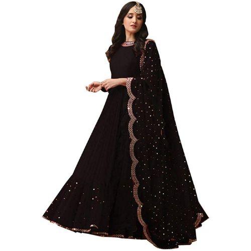 A t  vaghasiya A t vaghasiya Anarkali Gown(Black)