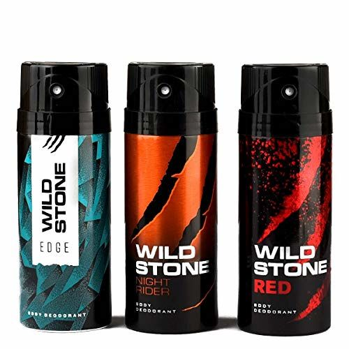 Wild Stone Edge, Night Rider and Red Deodorant For Men 150 ML Each (Pack Of 3)