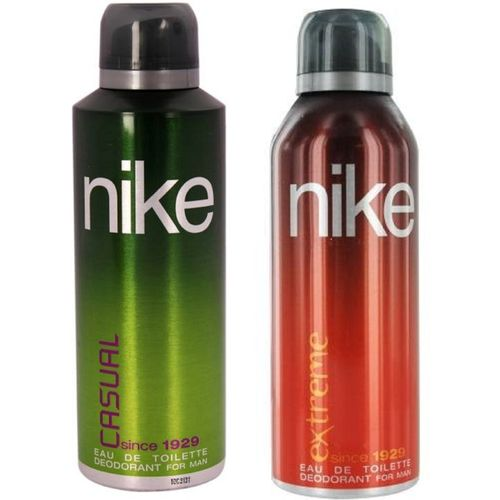 Nike Man Casual and Extreme Deodorant Spray for Men 200ML Each (Pack of 2) Deodorant Spray - For Men(400 ml, Pack of 2)