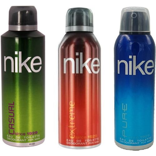 Nike Man Casual, Extreme and Pure Deodorant Spray for Men 200ML Each (Pack of 3) Deodorant Spray - For Men(600 ml, Pack of 3)