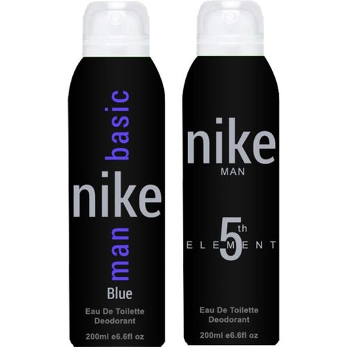 Nike 5th Element Basic Blue Body Spray - For Men(400 ml, Pack of 2)