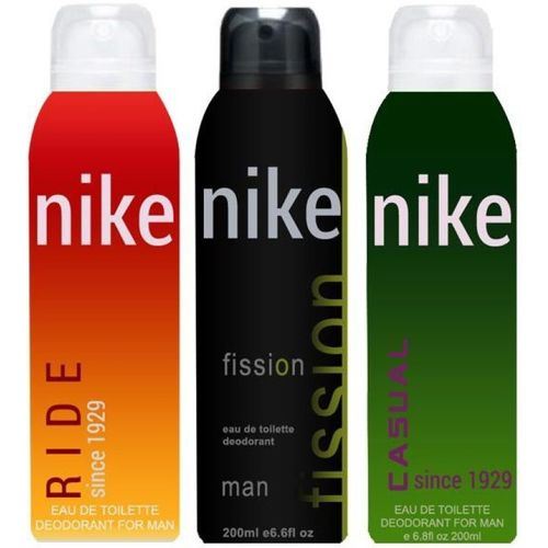 Nike Ride Fission Casual Body Spray - For Men(600 ml, Pack of 3)