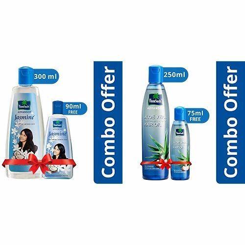Parachute Advansed Jasmine Coconut Hair Oil, 300ml (Free 90ml) and Parachute Advansed Aloe Vera Enriched Coconut Hair Oil, 250ml (Free 75ml)