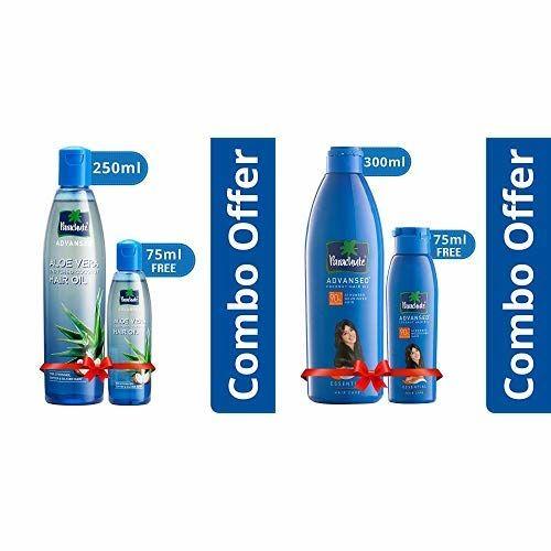 Parachute Advansed Aloe Vera Enriched Coconut Hair Oil, 250ml (Free 75ml) and Parachute Advansed Coconut Hair Oil, 300ml (Free 75ml)