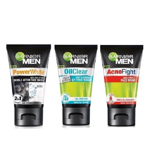 Garnier men face wash 100ml pack of 3 Face Wash(300 ml)