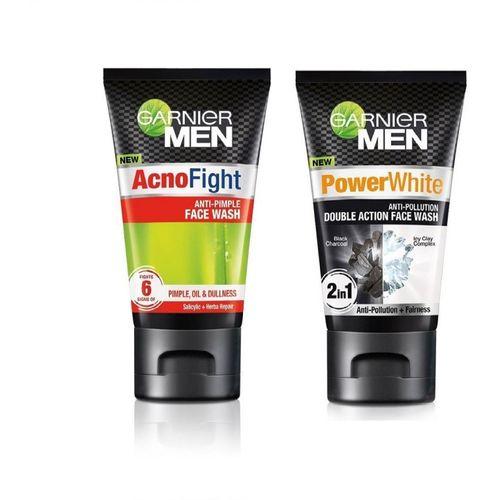 Garnier Men Acno Fight and Men Power White 100ml +100ml Face Wash(200 g)