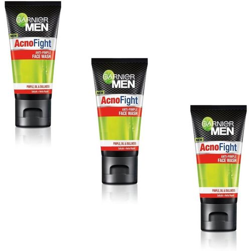 Garnier Men Acno Fight Anti Pimple (Pack of 3) Face Wash(50 g)