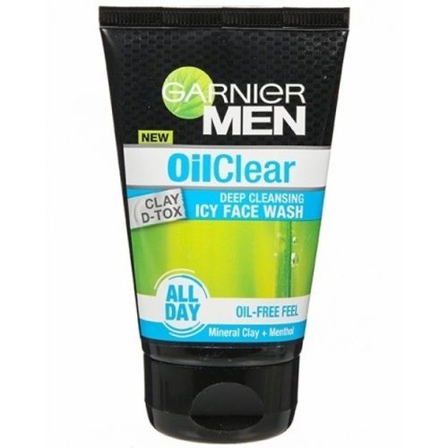 Garnier Men Oil Clear Deep Cleansing Icy Face Wash 50g With Clay Dtox Face Wash(50 g)