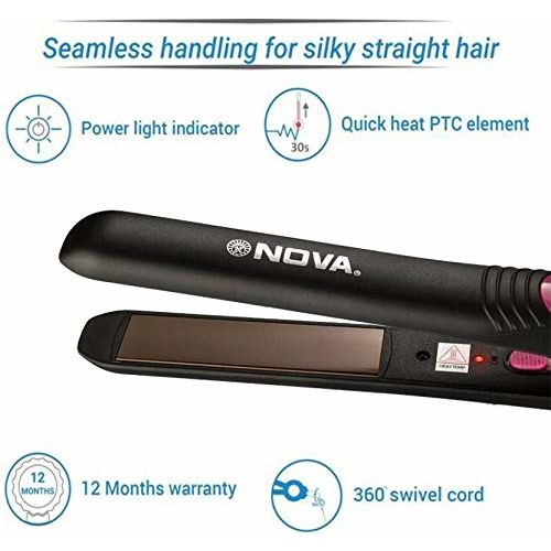 Nova NHS - 840 Professional Series Straightener for Women (Pink)