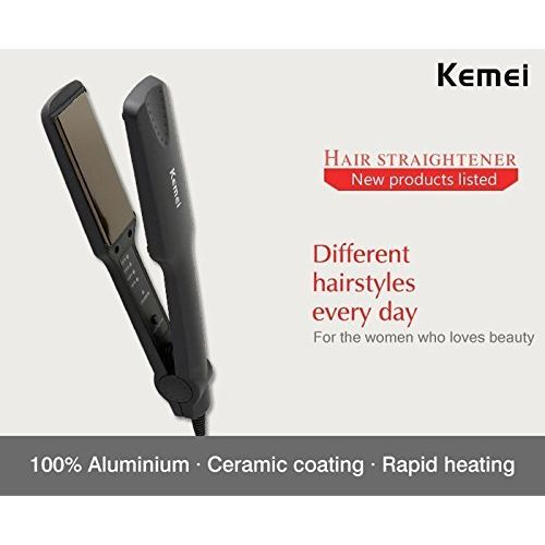 Kemei KM-329 Professional Hair Straightener Styler for Unisex (Multicolor)
