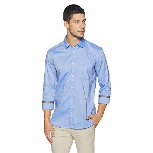 Parx Men's Plain Slim Fit Casual Shirt