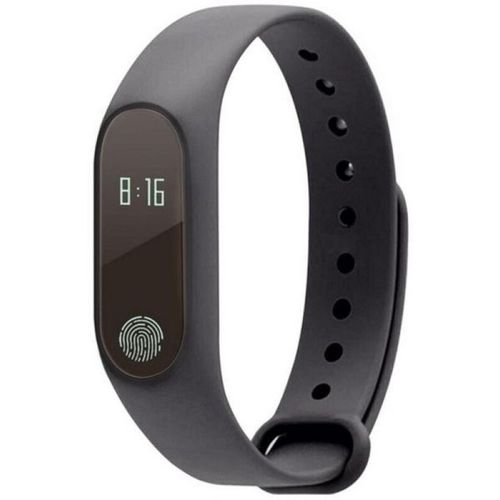 Buddymate M2 Bluetooth Support Smart Fitness Band(Black Strap, Size : M)