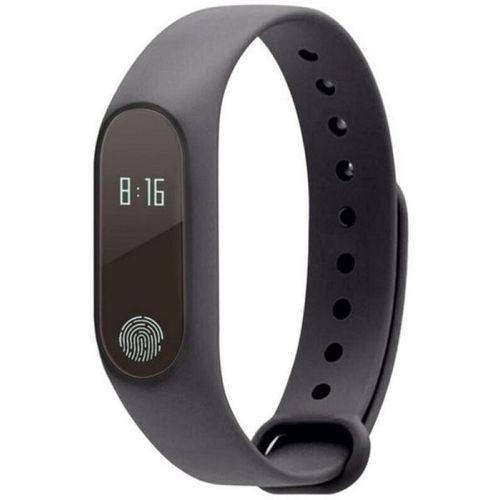 Buddymate M2 Bluetooth Support Smart Fitness Band(Black Strap, Size : M)