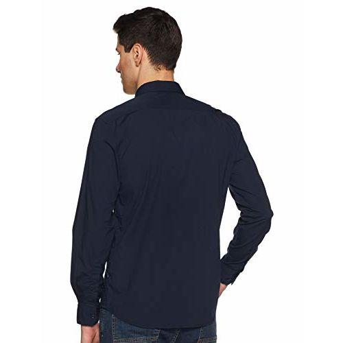 Parx Men's Solid Regular fit Casual Shirt