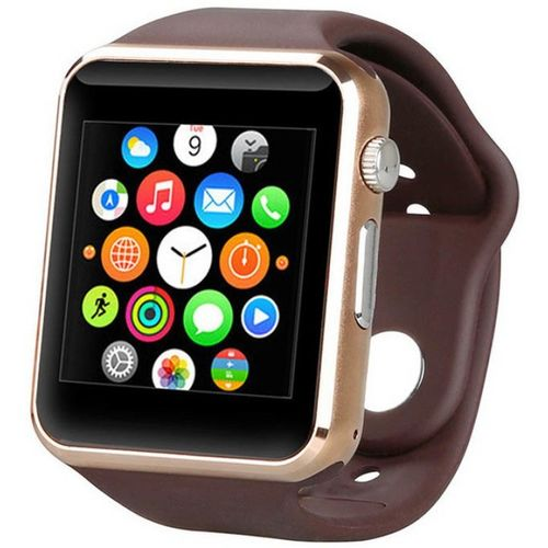 Life Like A1 Bluetooth with sim & Tf card slot BROWN Smartwatch(Brown Strap Regular)