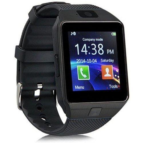 Padraig DZ09 Black Smartwatch(Black Strap L)