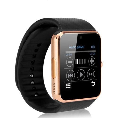 SYL gt08.(gld)_SV_61 phone Gold Smartwatch(Black Strap Free Size)