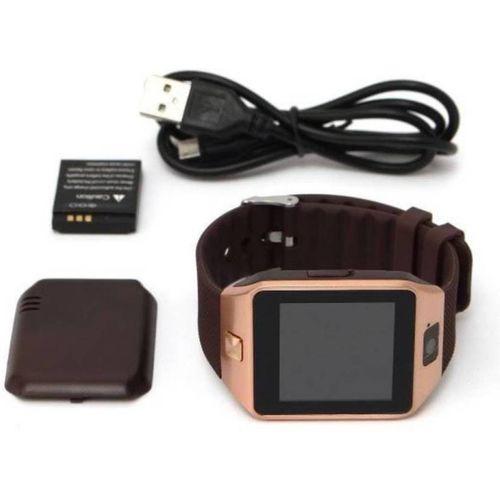 Anaya Pop DZ09 4G Smart Mobile watch Smartwatch(Brown Strap Regular)