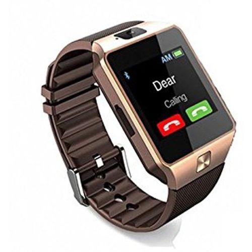 E-LIVE M9 Smartwatch(Gold, Black Strap Free Size)