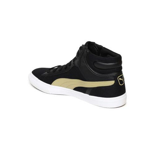 Puma Men Black Hip Hop Mid Perf IDP Mid-Top Sneakers