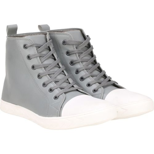 Kraasa Roya High Tops For Men(Grey, White)