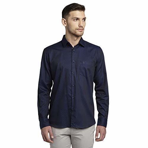 Parx Cotton Blue Slim Fit Shirt