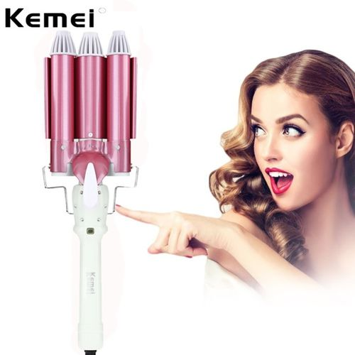 Kemei KM - 926 Unique 3 Tubes Design PTC Heating Body Ceramic Plate Hair Waver Triple Curler Perm Rolls Fast Heating Equ