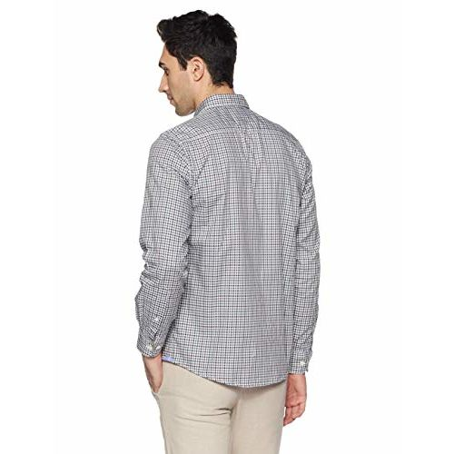 Parx Men's Checkered Slim Fit Casual Shirt