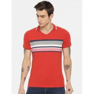 eff6afdffb8 Buy Puma Red Cotton Solid Ferrari Embossed Polo T-shirt online ...