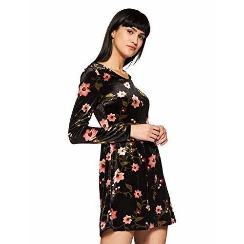 VERO MODA Women's Skater Synthetic Mini Dress
