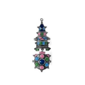 Voylla Silver Tone Rajasthani Bhawai Dance Inspired Ring