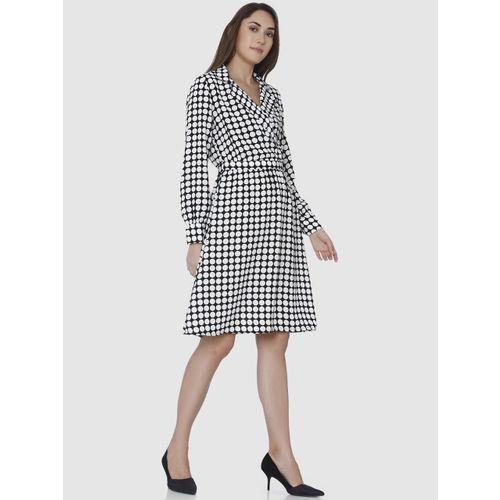 Vero Moda Women Black Printed A-Line Dress