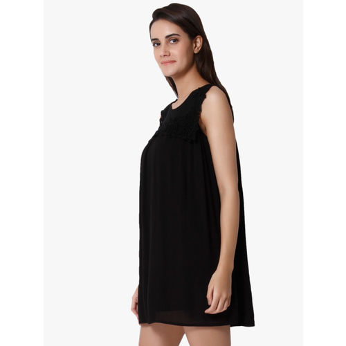 Vero Moda Women Black Solid A-Line Dress