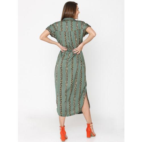 Vero Moda Women Green Printed Shirt Dress