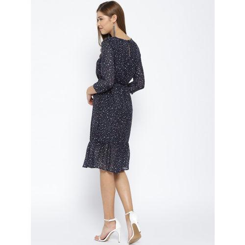 Vero Moda Women Navy Blue Printed Sheath Dress