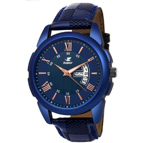 Espoir CheckBlueRay0507 DAY AND DATE FUNCTIONING Analog Watch - For Men
