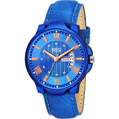 Youth Club DD-209BLU New Ultimate Blue Day and Date Functioning Analog Watch - For Men